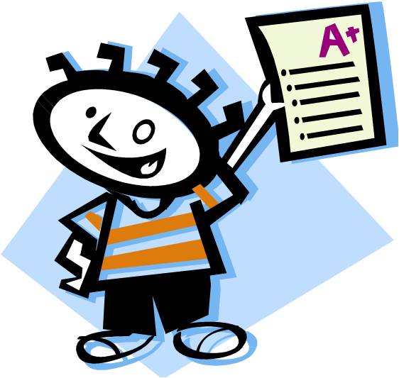 Student Test Clip Art Double Checking