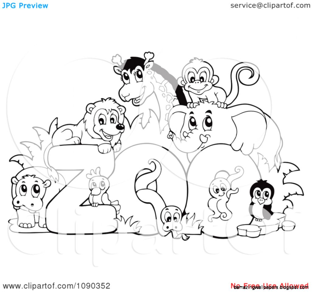 Zoo Animal Clipart Black And White