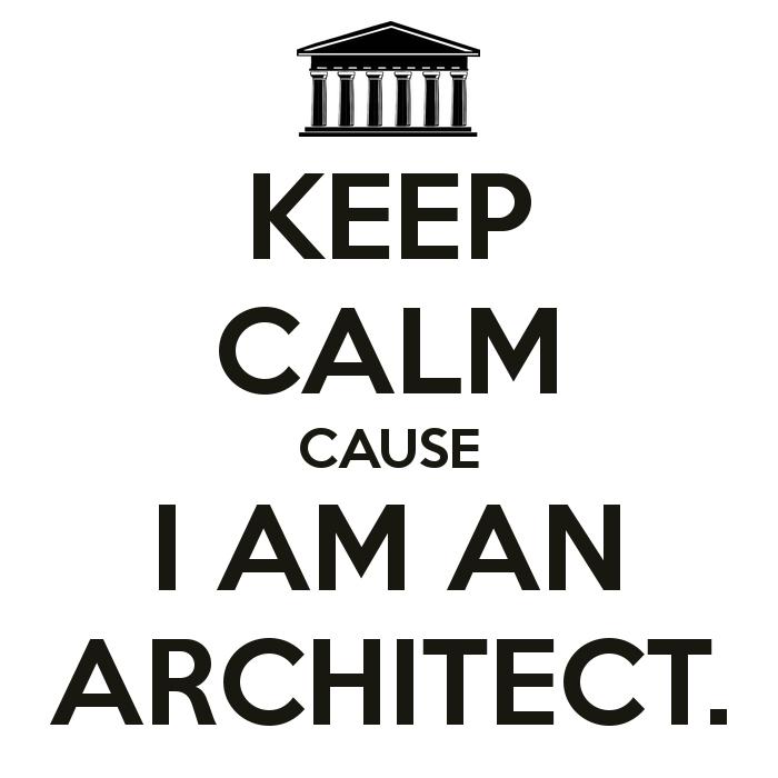 KEEP CALM CAUSE I AM AN ARCHITECT.