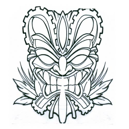 tiki mask template  cliparts.co