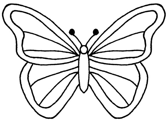 Chocolate Butterfly Template