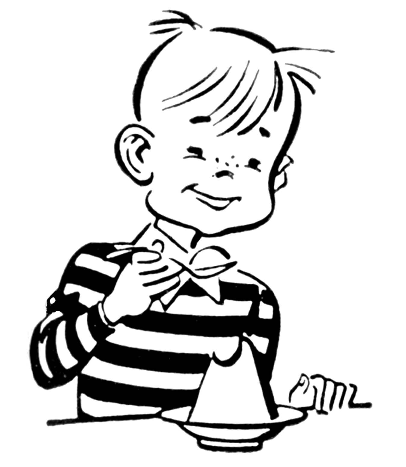 Kids Clip Art Black And White