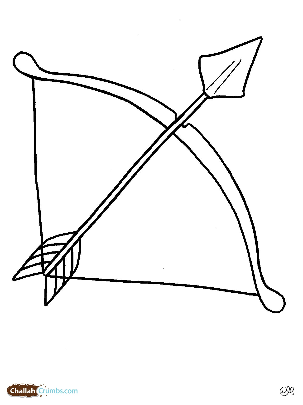 Bow And Arrow Black And White