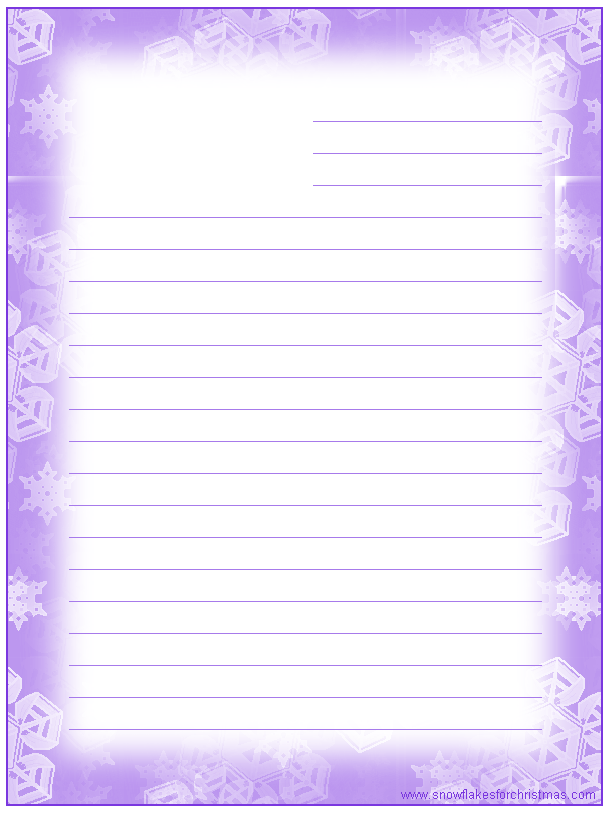 Pretty Border Lined Paper Printable