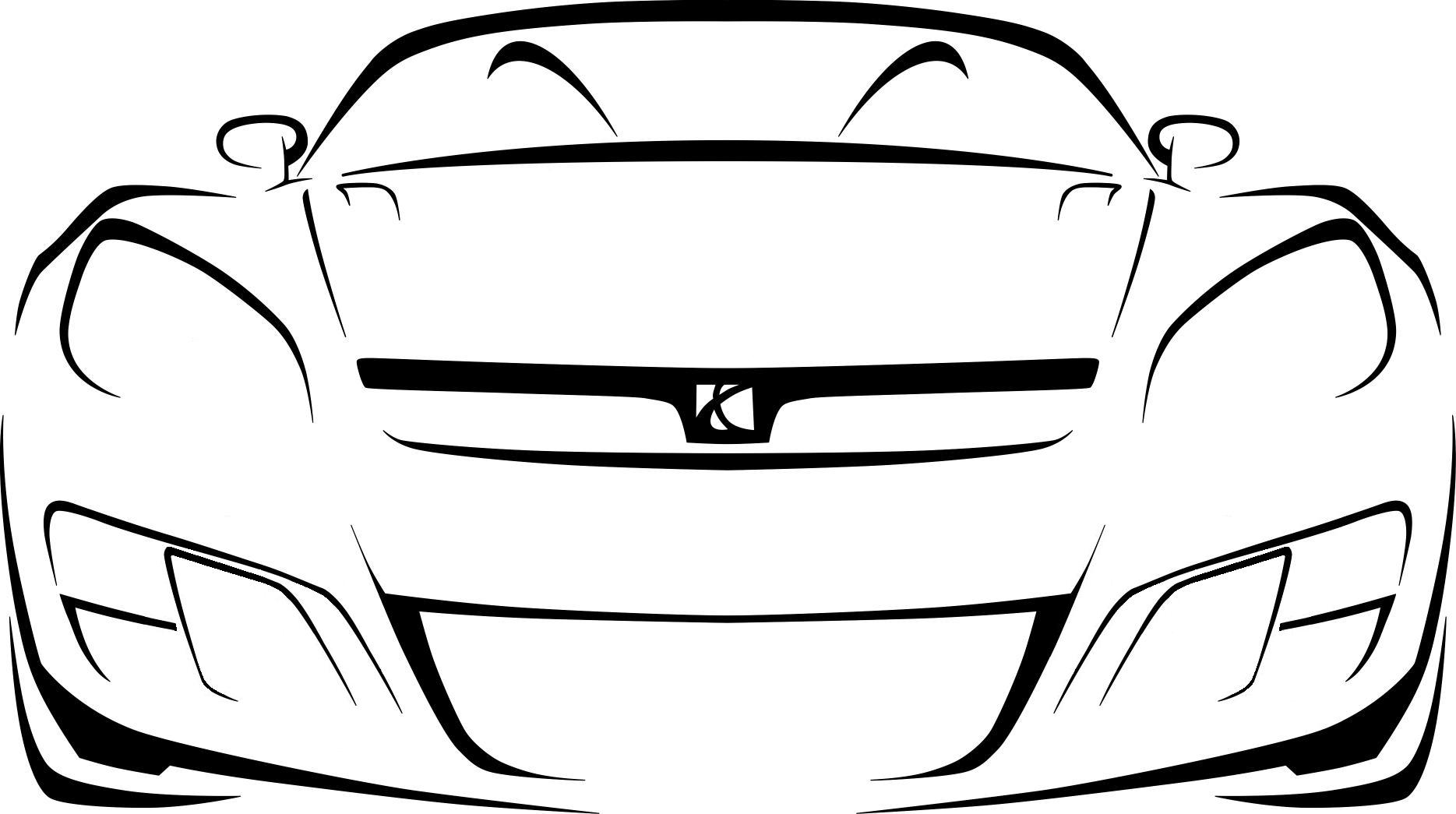 Race Car Outline
