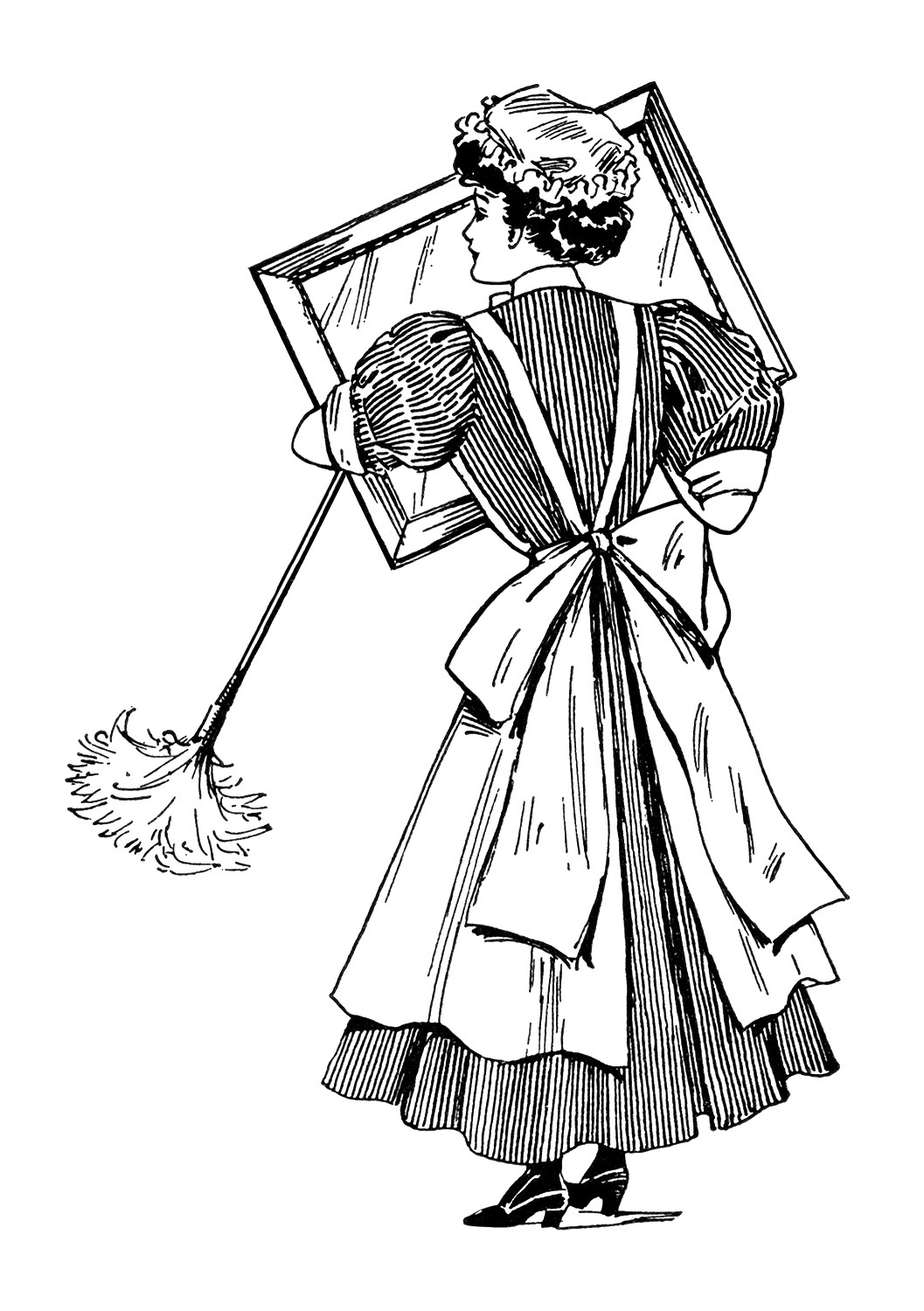 Picture Of A Cleaning Lady