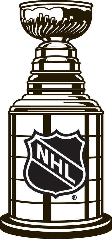 Stanley Cup Black White Outline