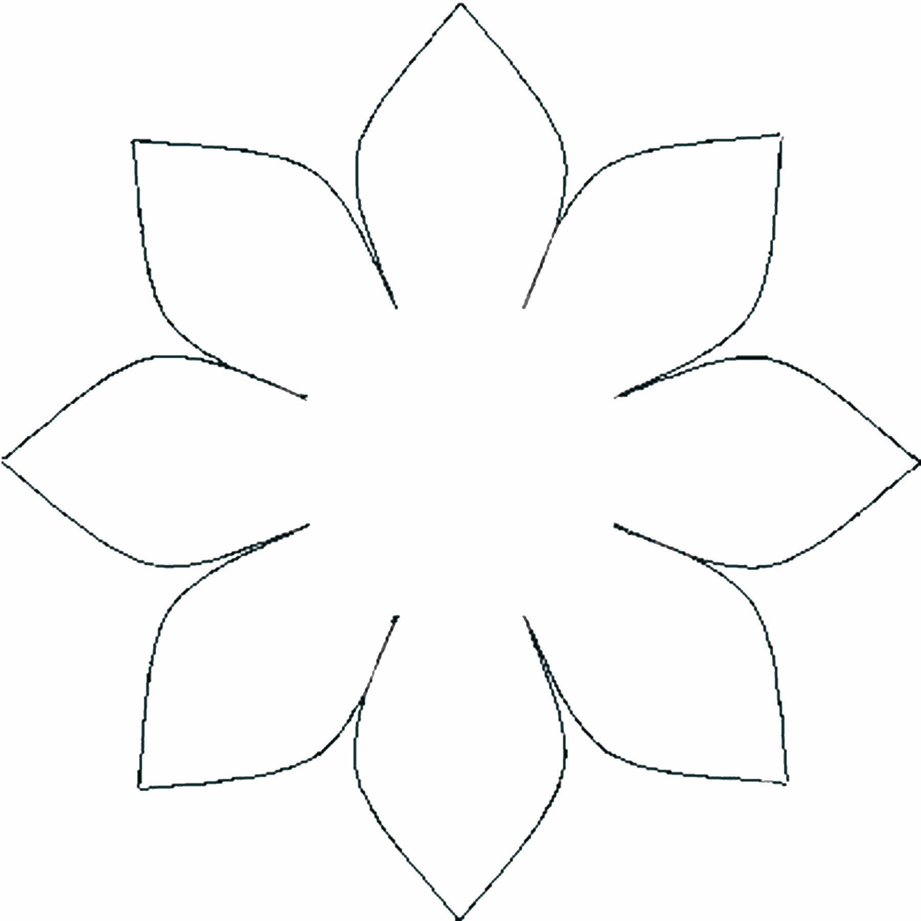 Template Of A Flower