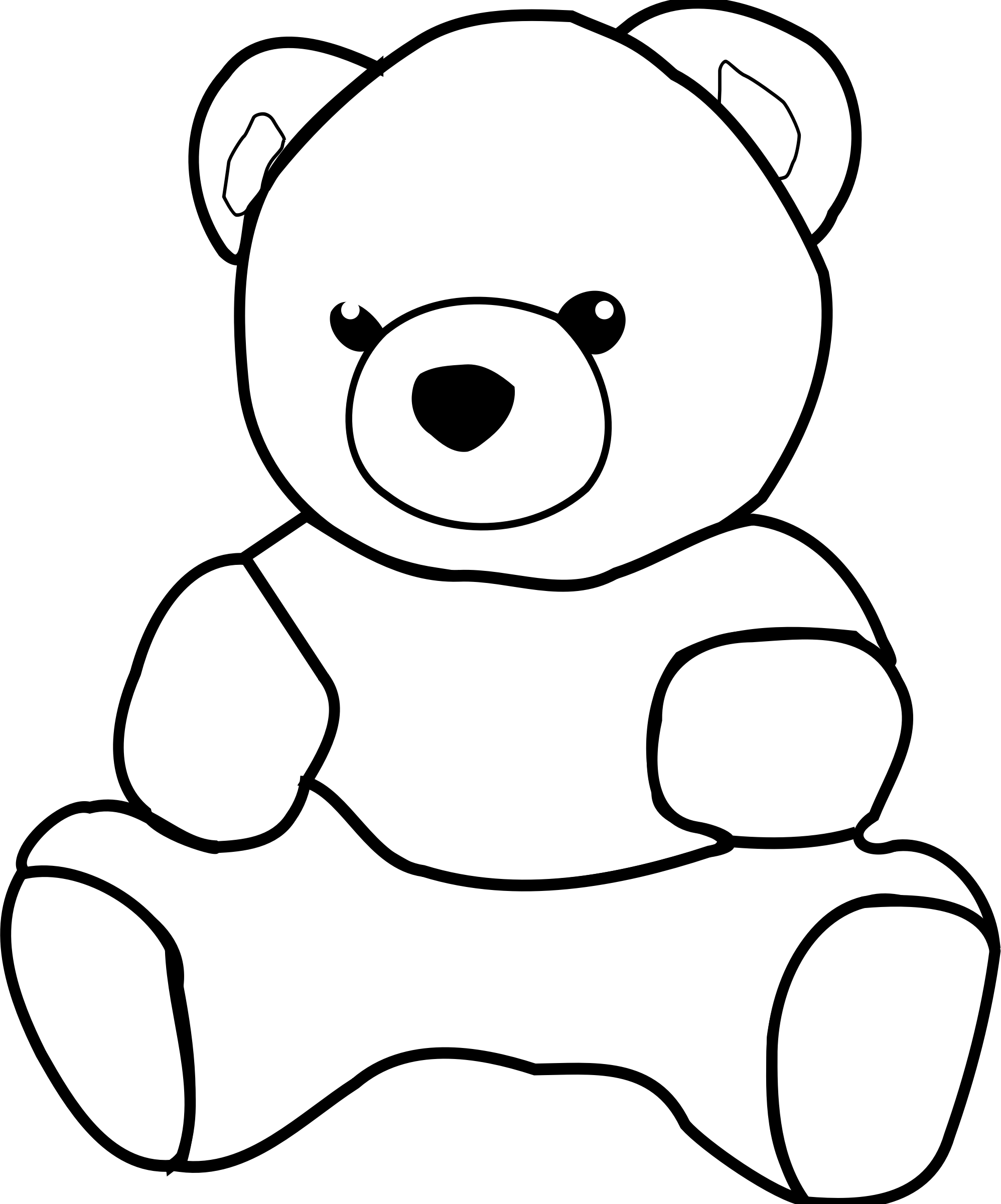 Teddy Bear Clip Art Black And White Download Free Teddy