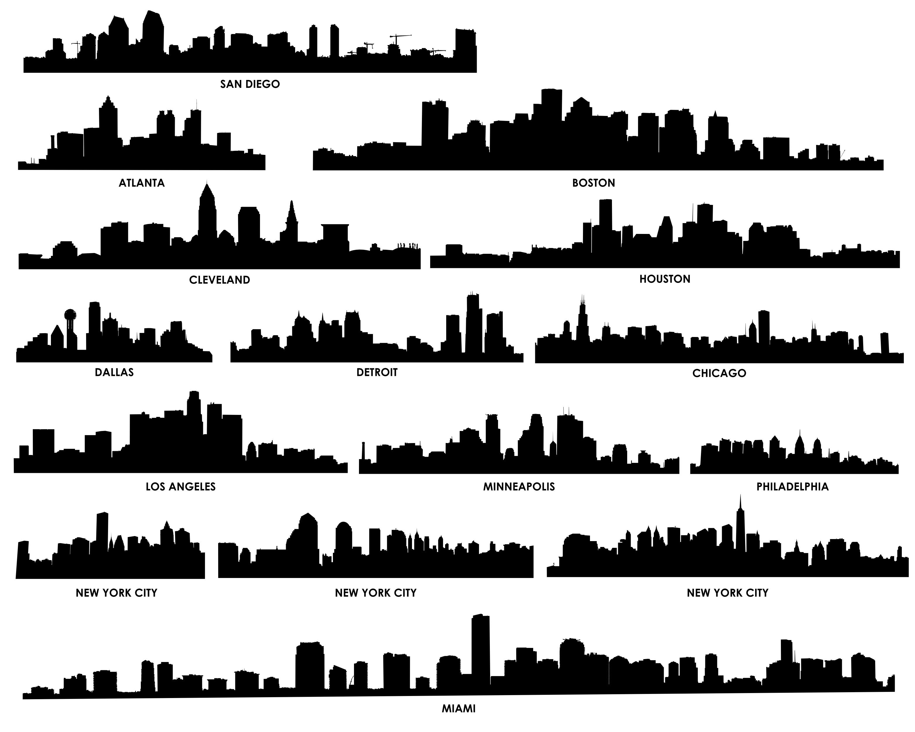 New York City Skyline Outline
