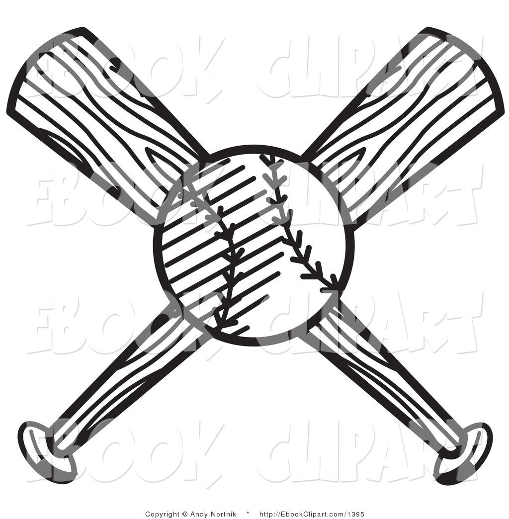 Softball Balks And Bat Drawing