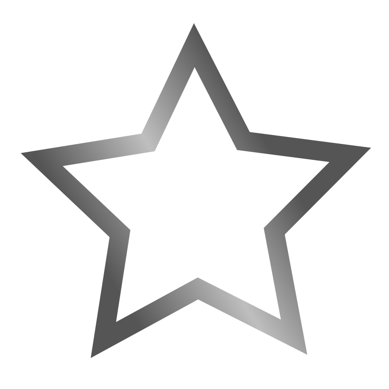 Clipart - Outlined star icon
