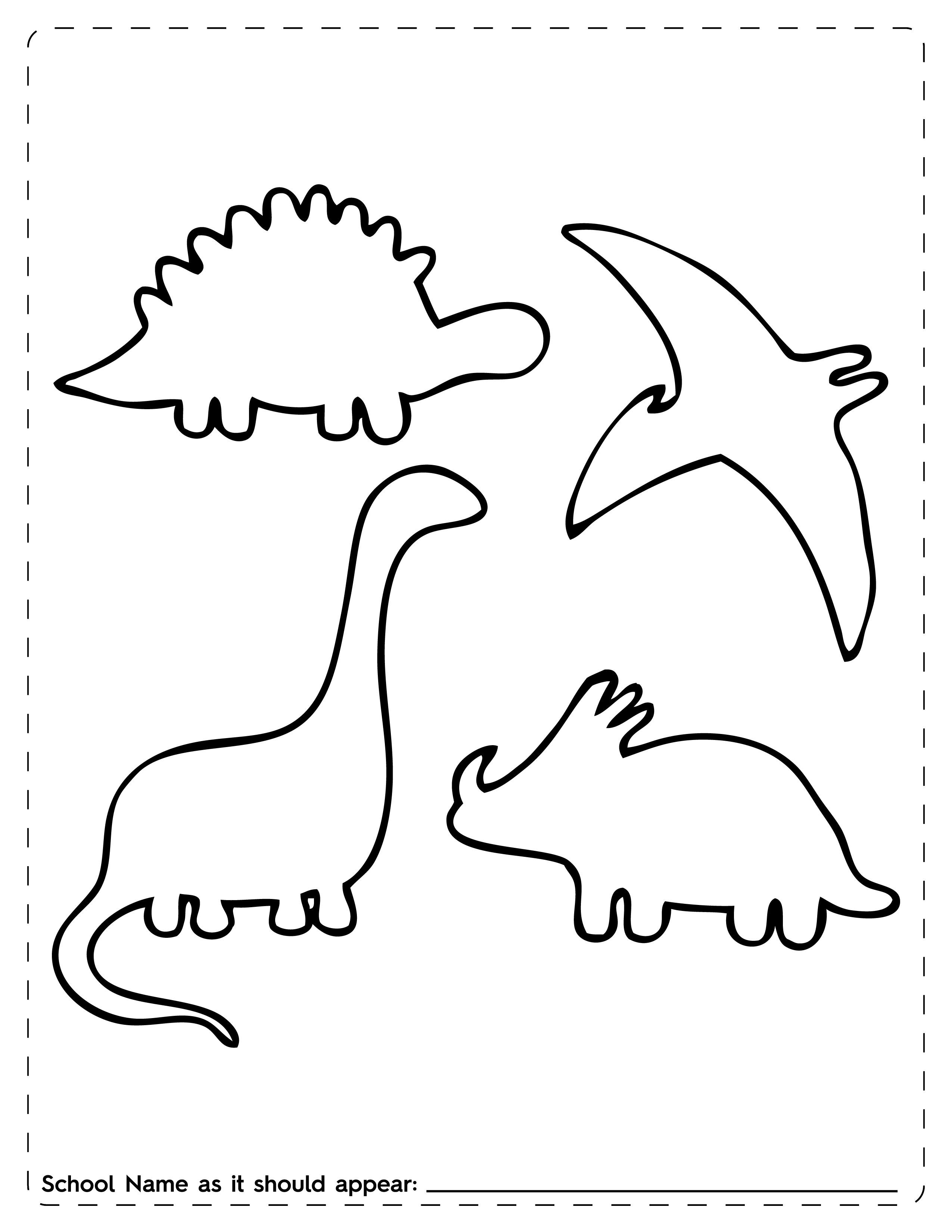 Dinosaur Outline Template