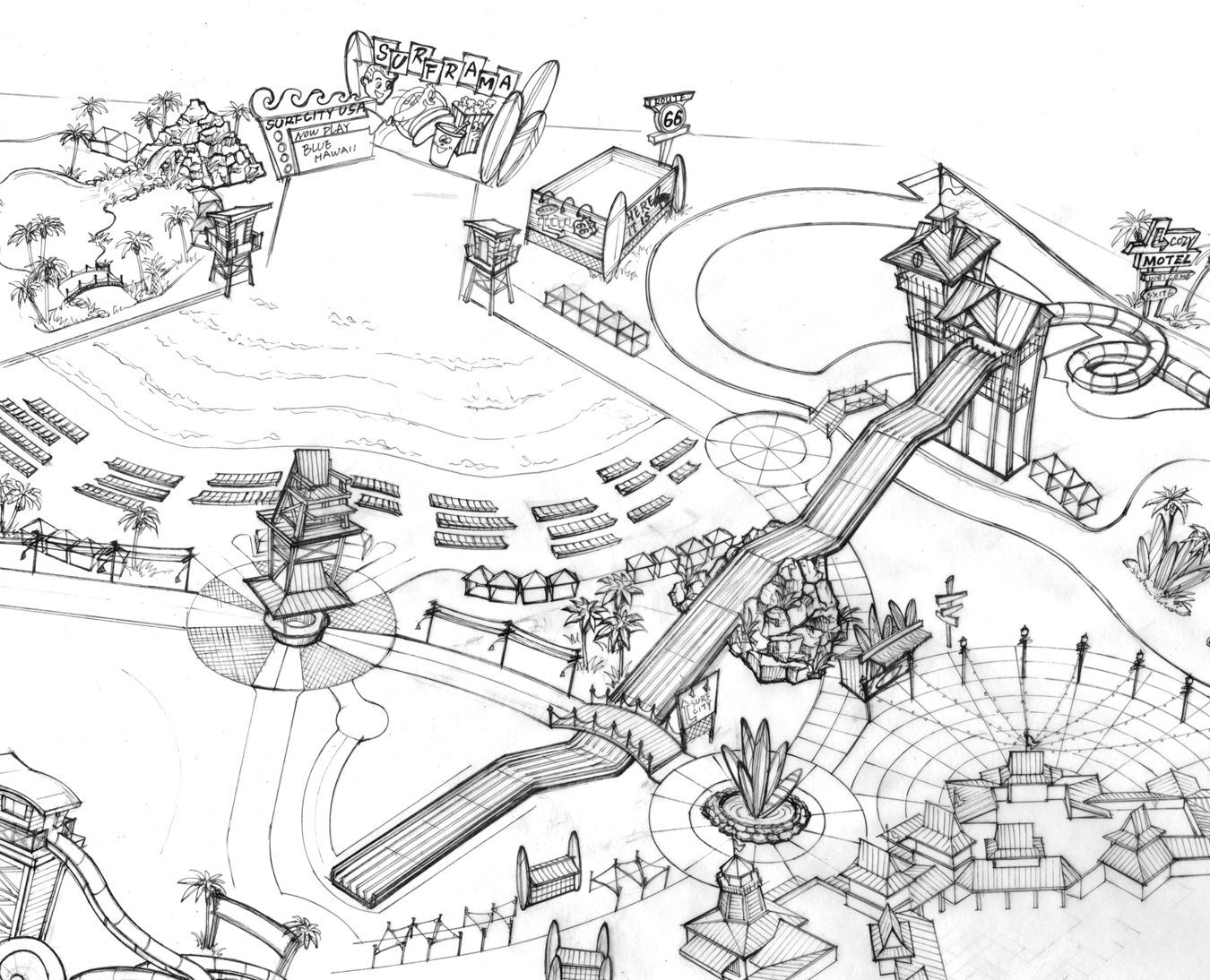 Amusement Park Clipart Black And White