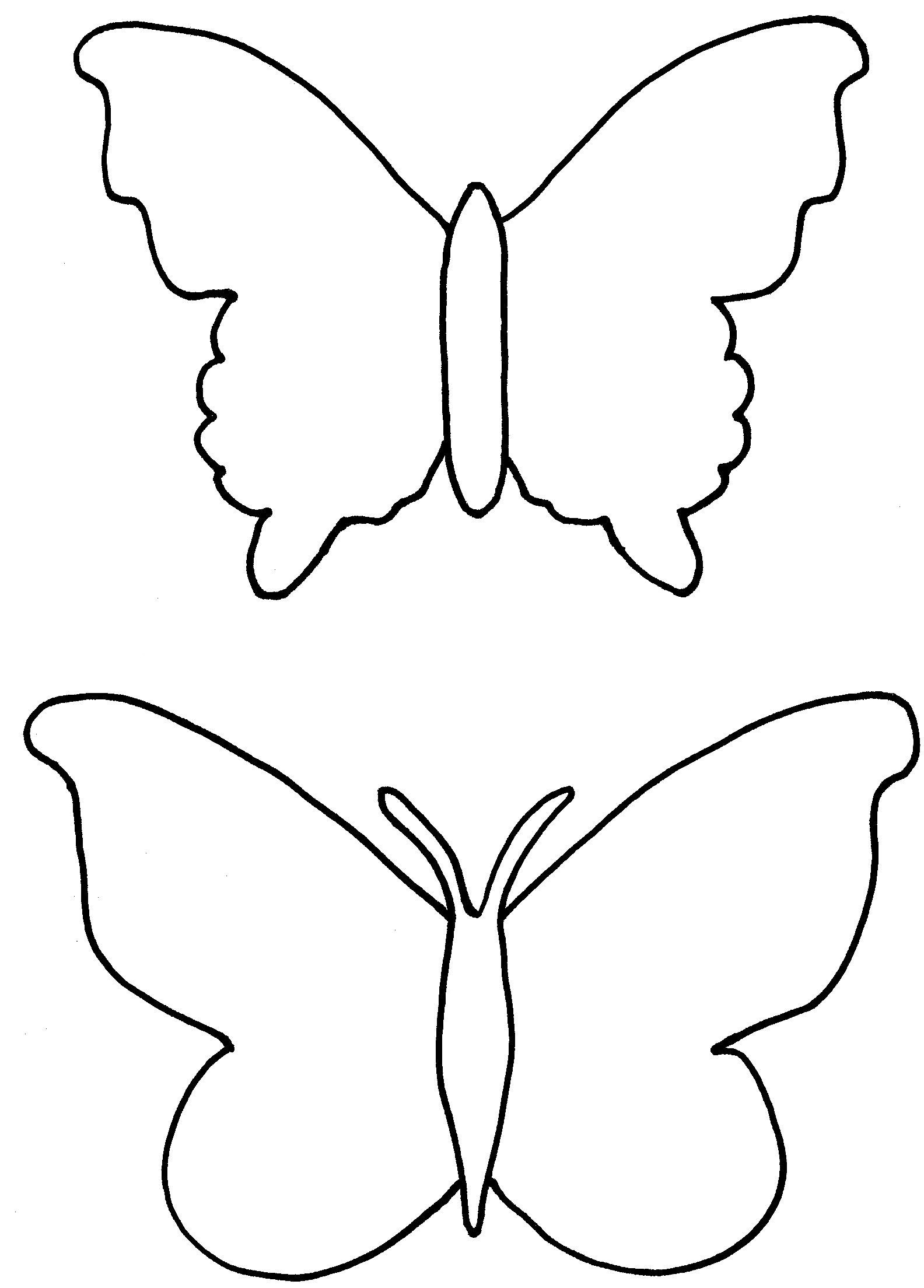 Printable Butterfly Cutouts