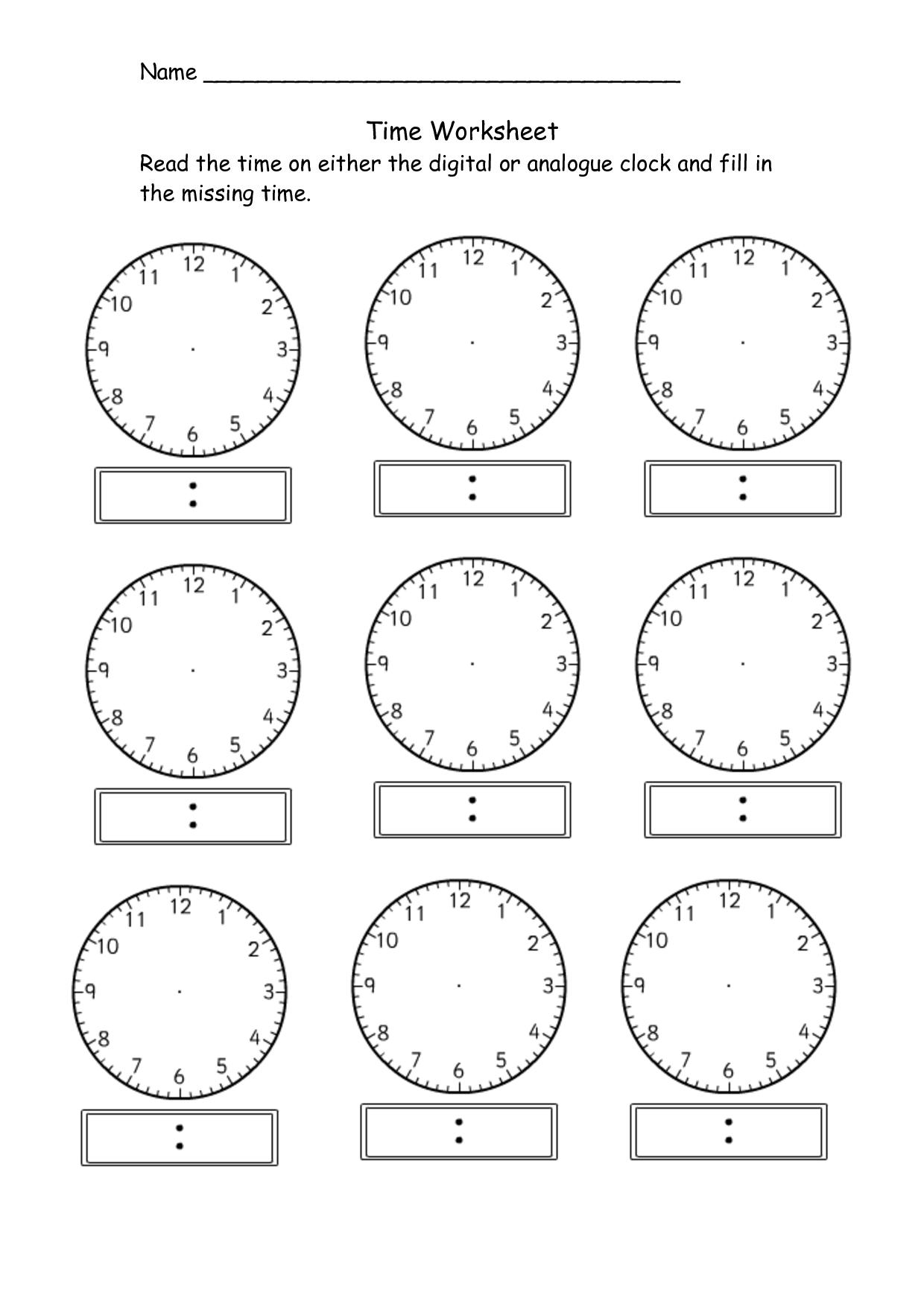Blank Digital Clock Faces