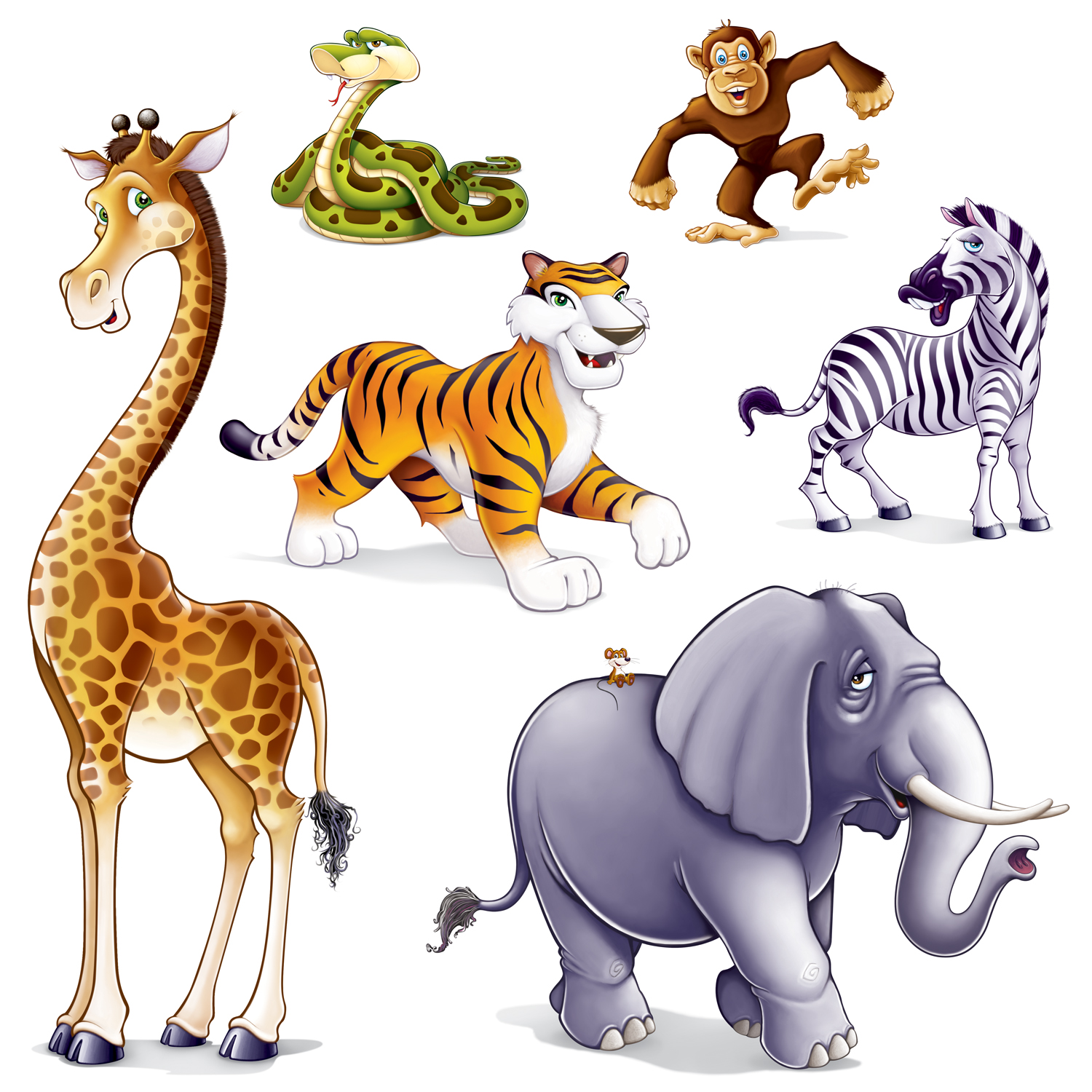 Baby Jungle Animal Clip Art