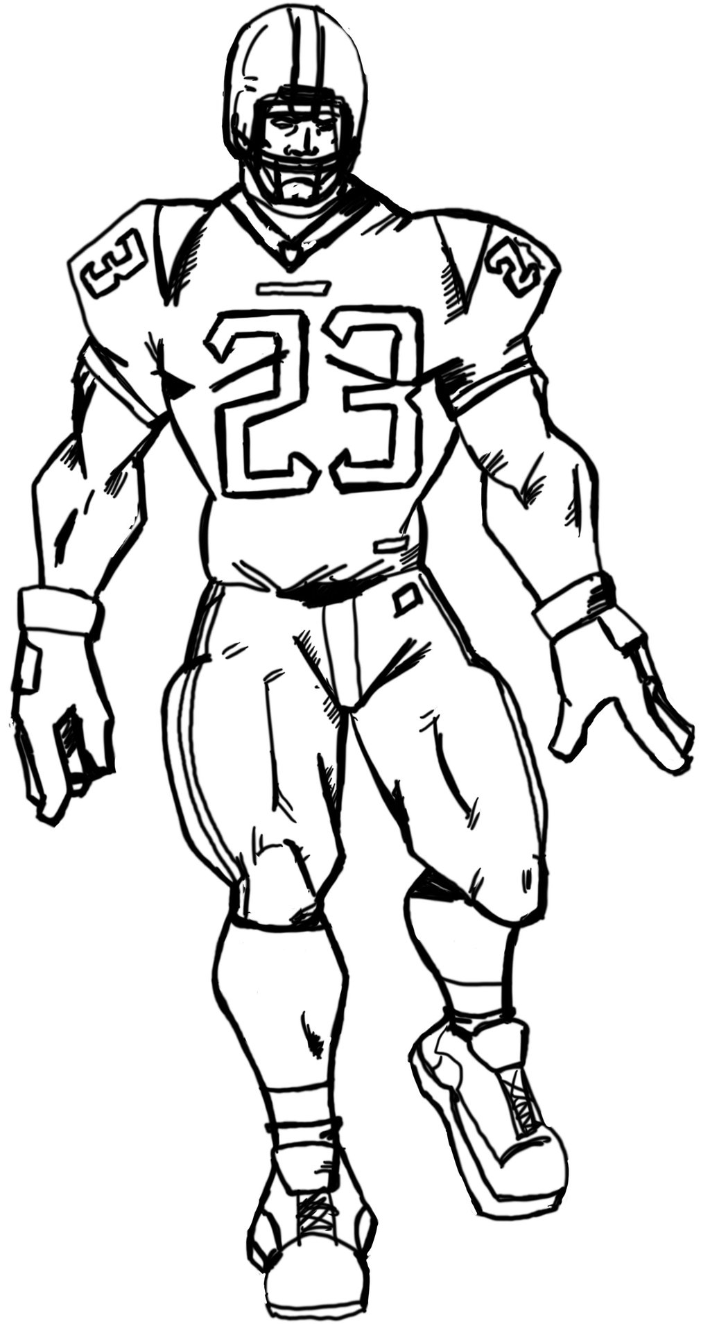 Football Player Drawings Pictures To Pin