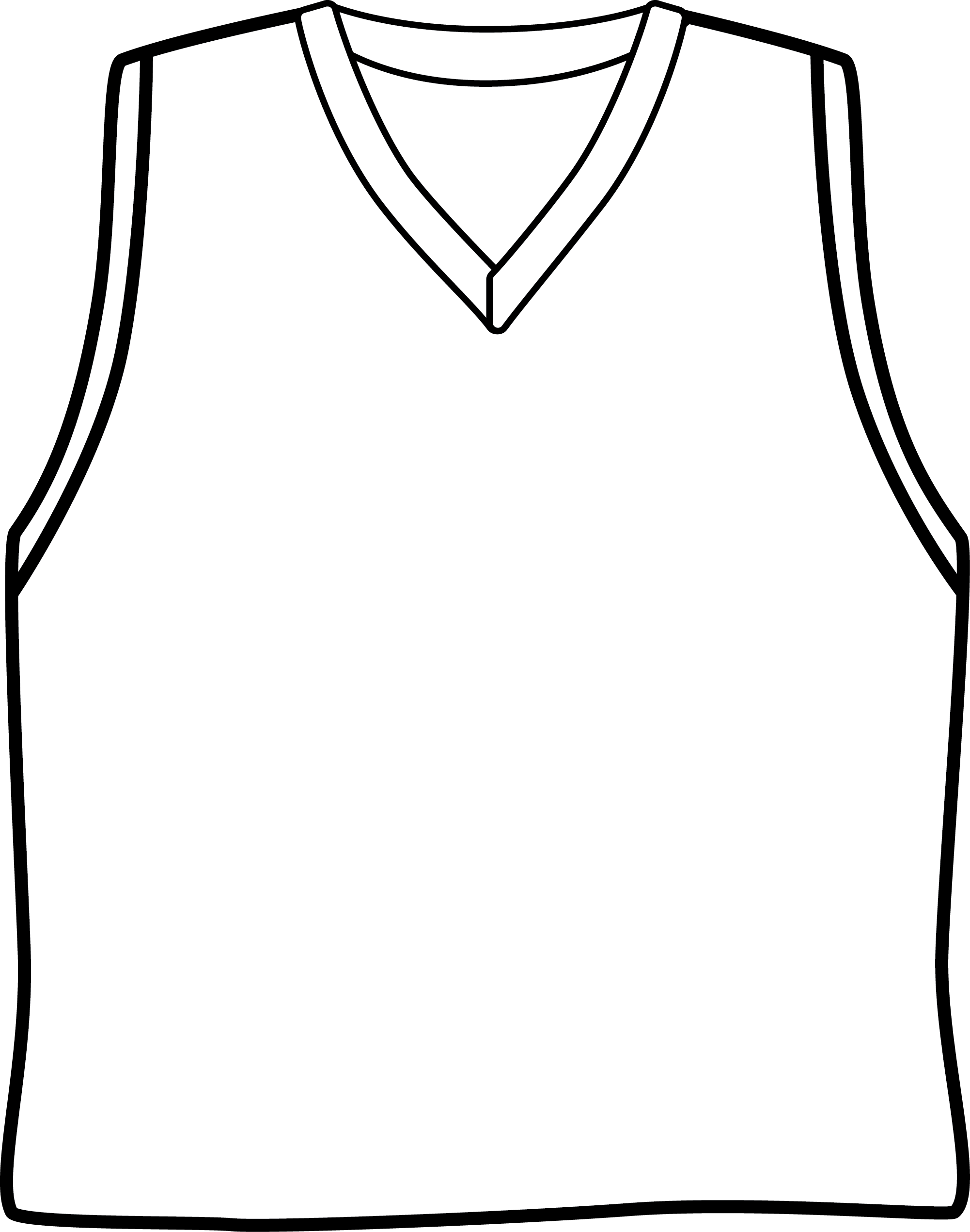 Blank Basketball Jersey Template
