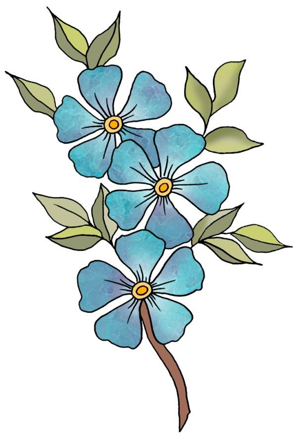 Blue Flowers Clip Art - Cliparts.co