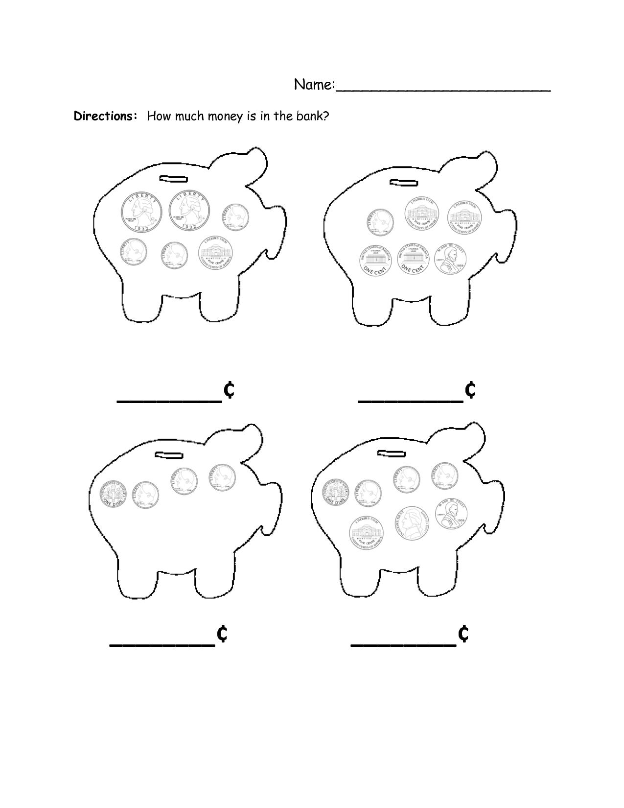 Piggy Bank Template