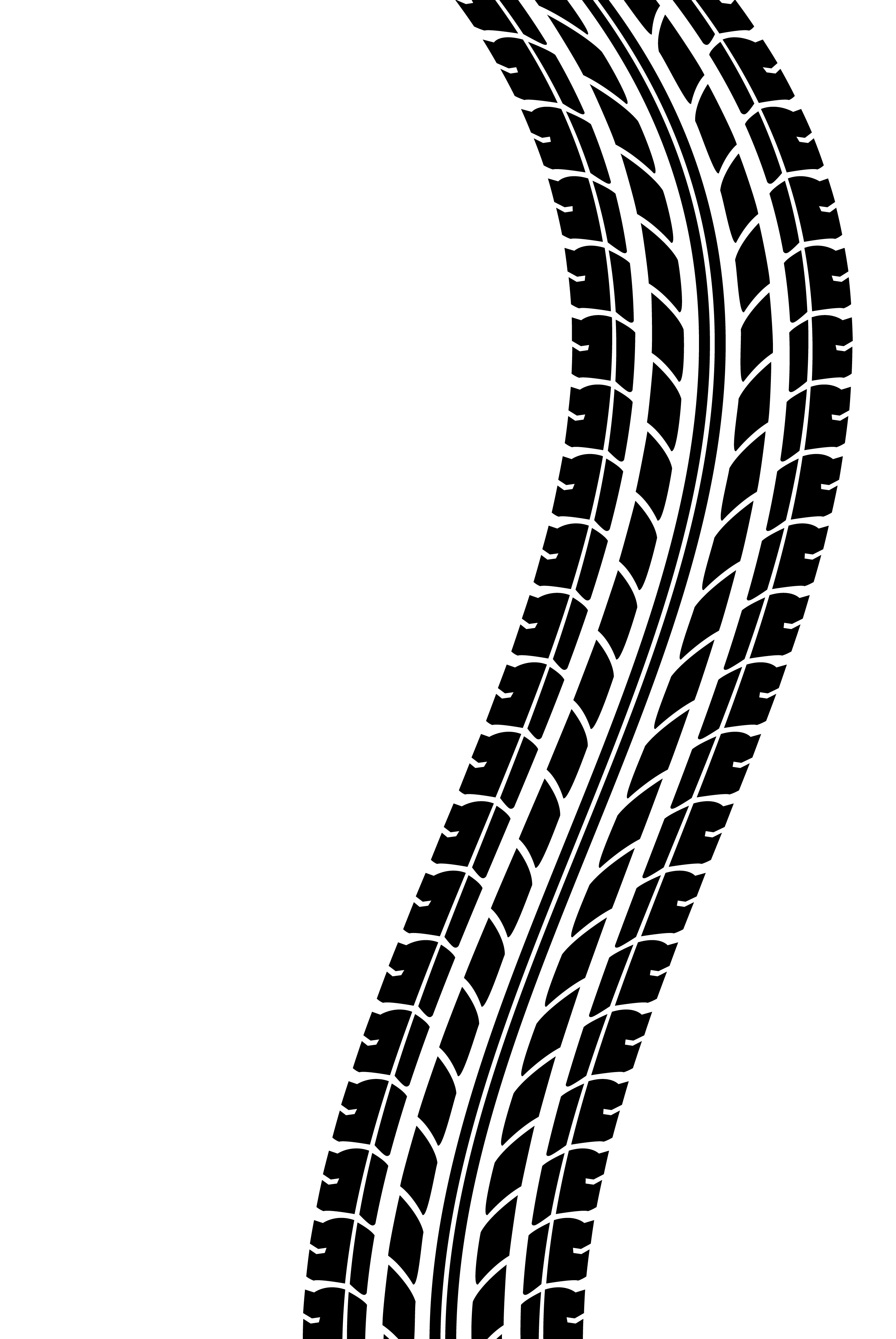 Tire Tracks Clip Art