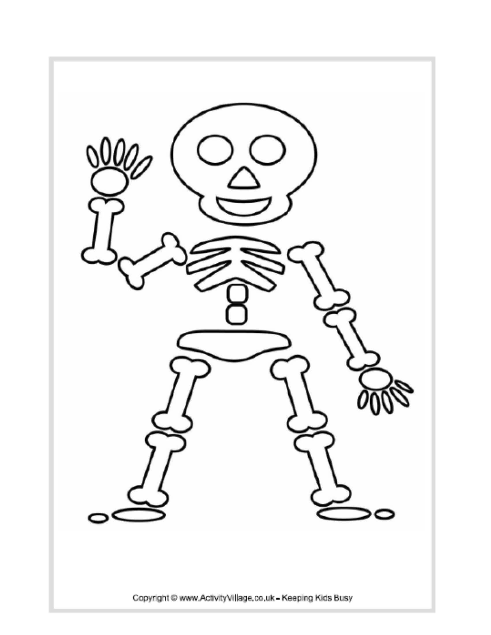 Kids Skeleton Drawing