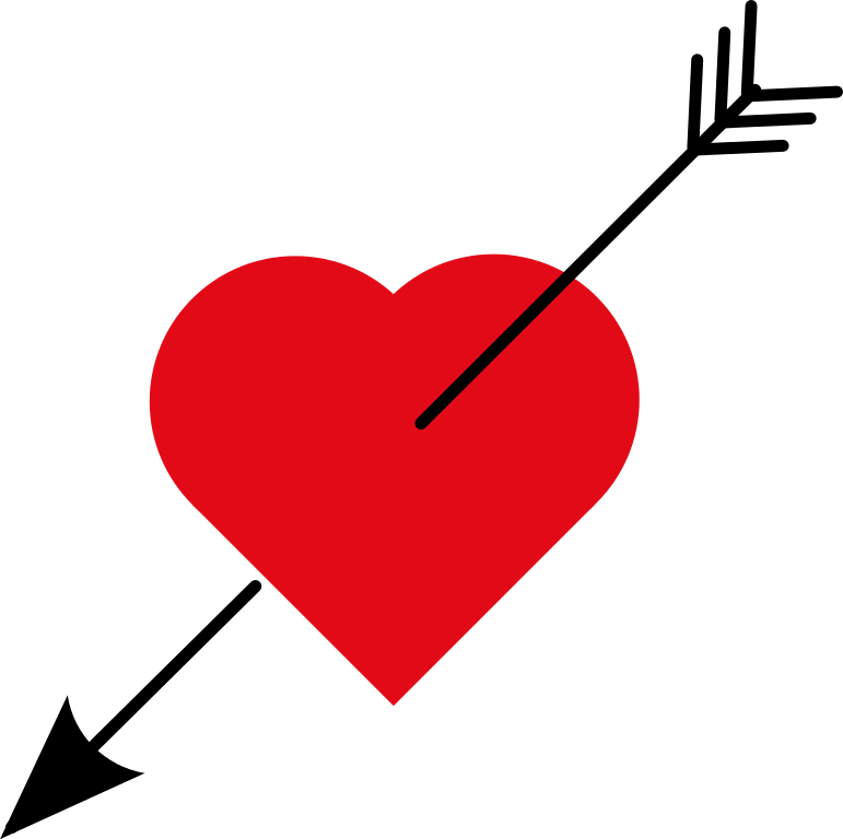 Download Heart With Arrow Clip Art - Cliparts.co