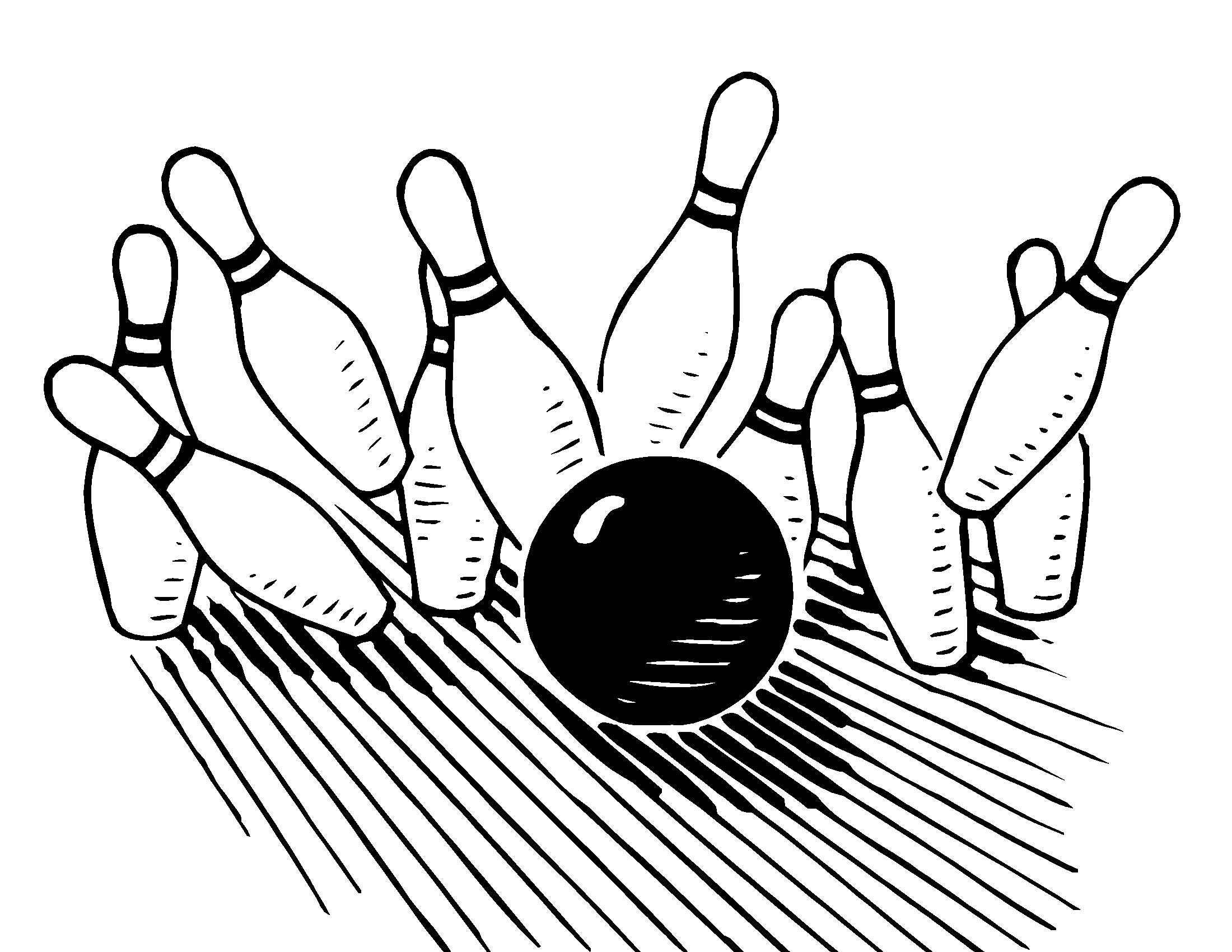 Pictures Of Bowling Pins And Balls