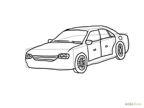 4 Easy Ways To Draw Cars (with Pictures) - WikiHow ...