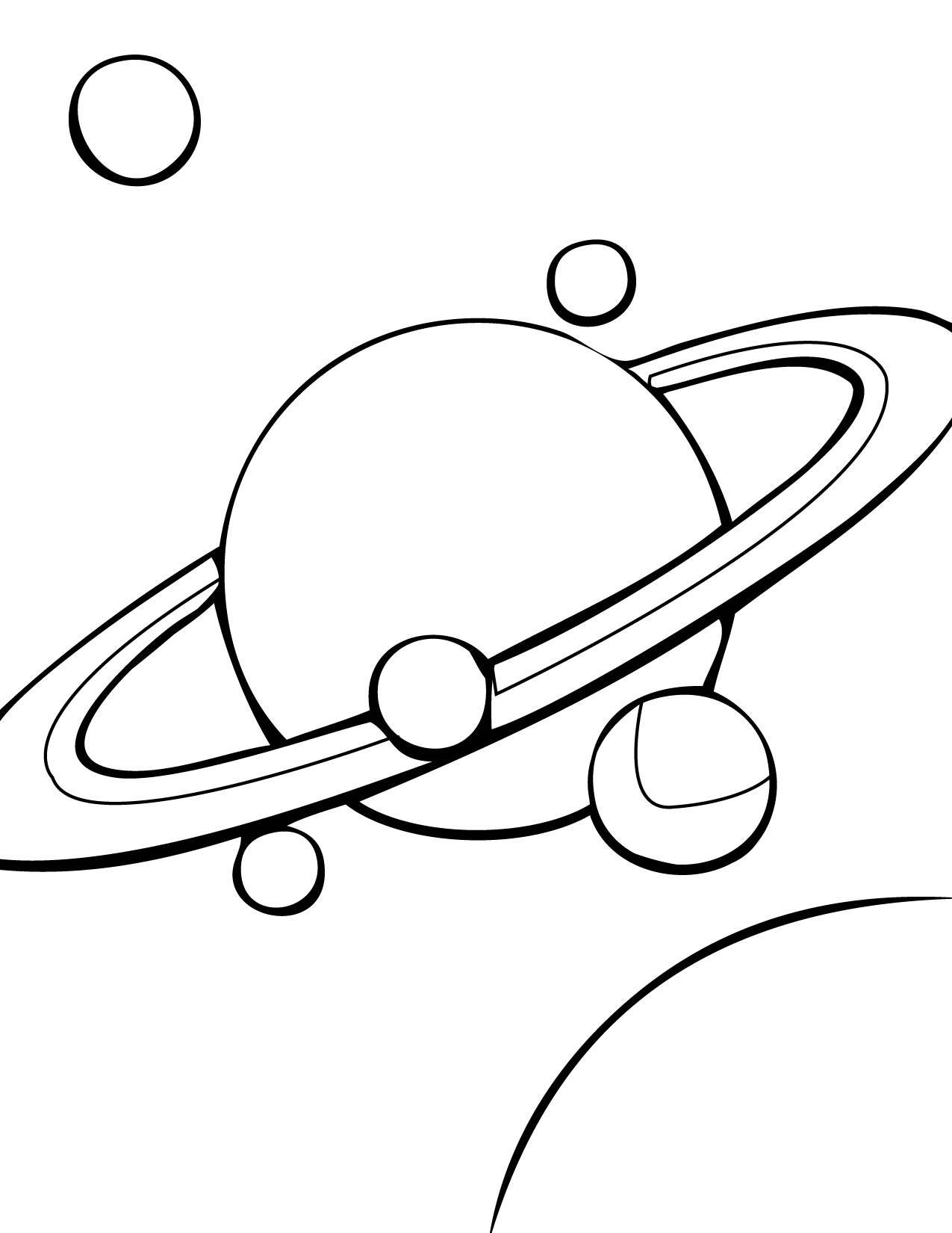 Solar System Black And White Clipart Page 2