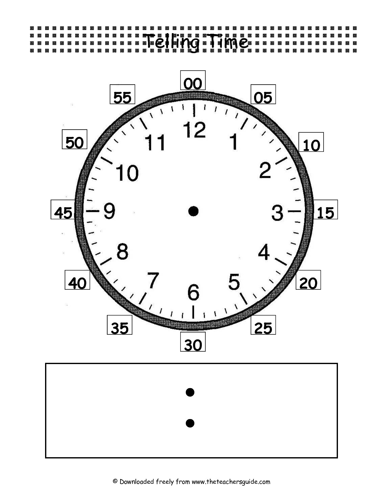 Blank Digital Clock Faces
