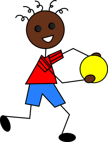 African American Boy Cartoon Computer