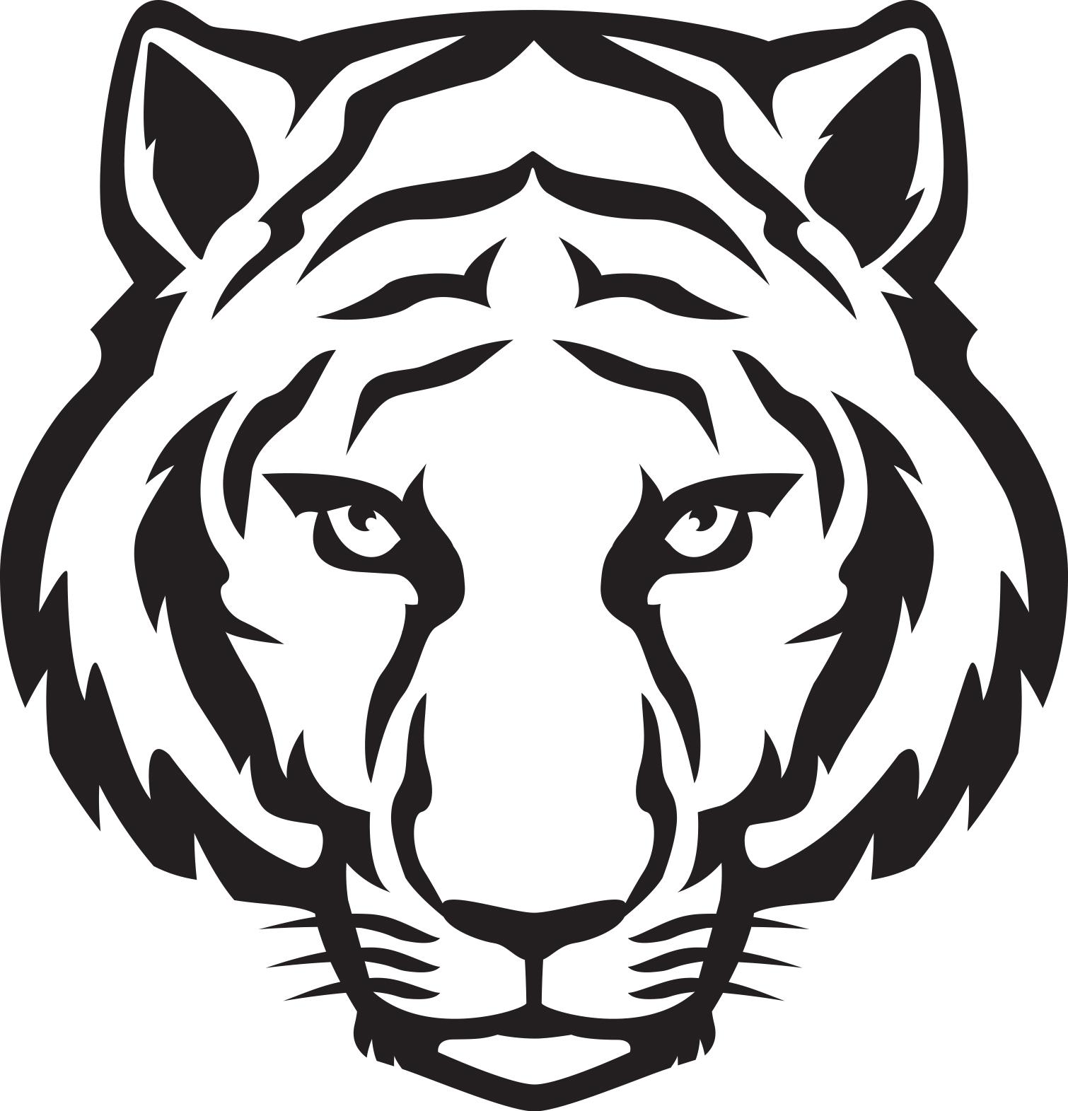 Tiger Head Clip Art