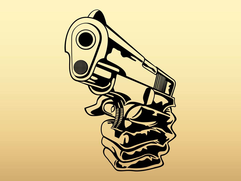 Gun Pointing You Drawing