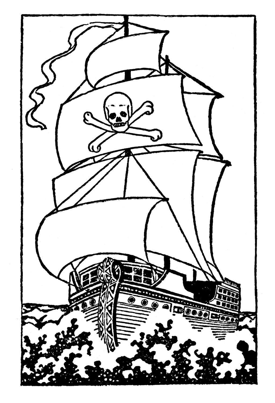 Pirate Ship Outline