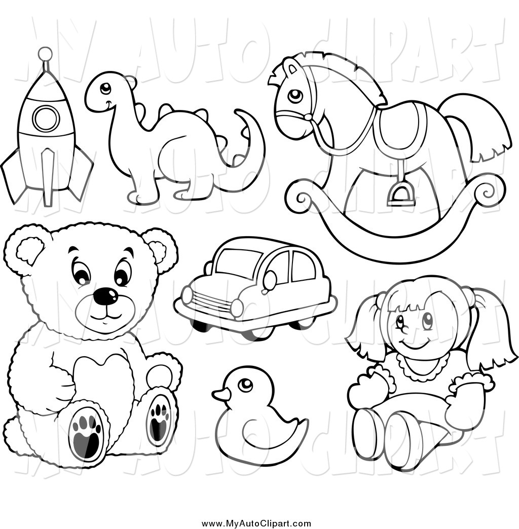 Clip Art Black And White Toy