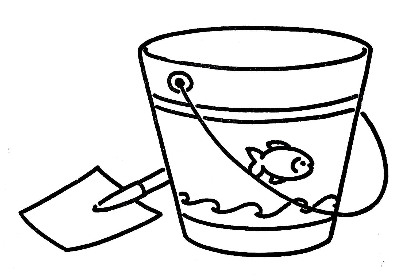 Beach Bucket Clipart