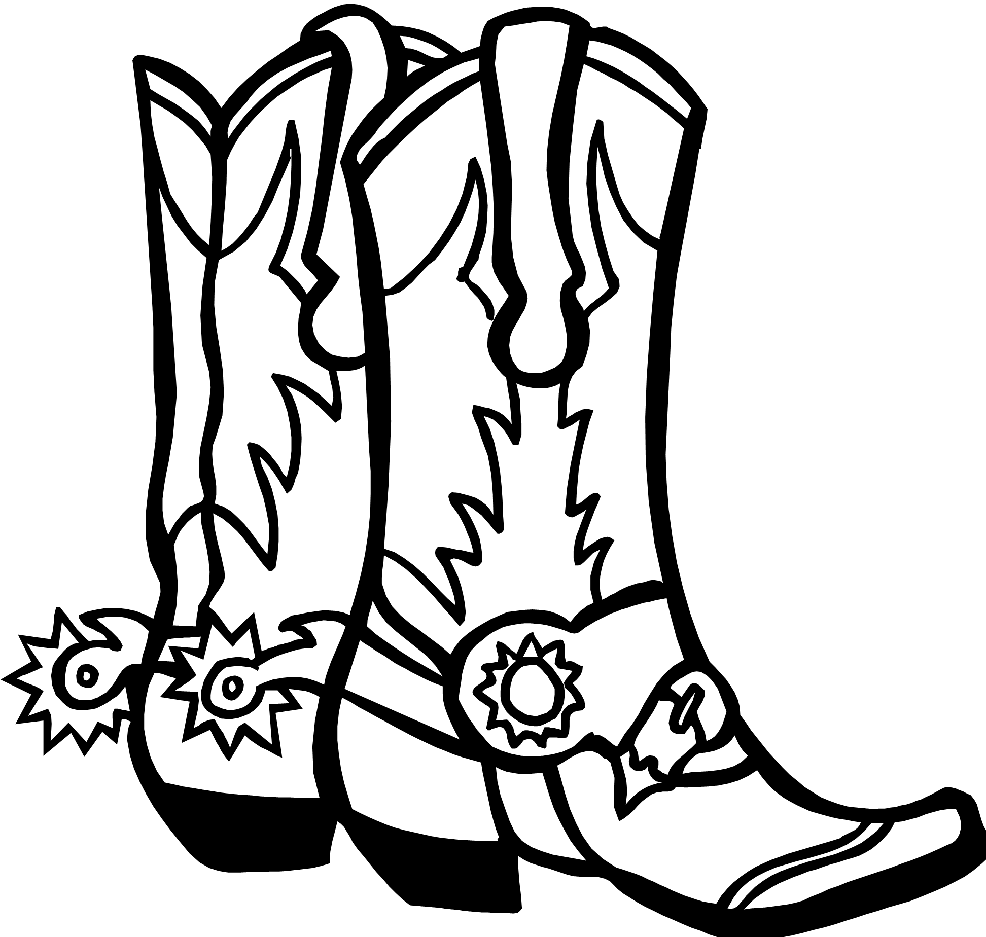 Trends For Gt Cowboy Boots Drawing