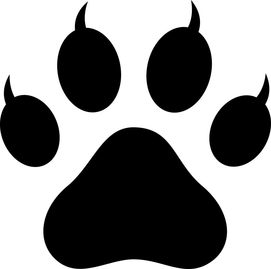 Polar Bear Paw Print Clip Art