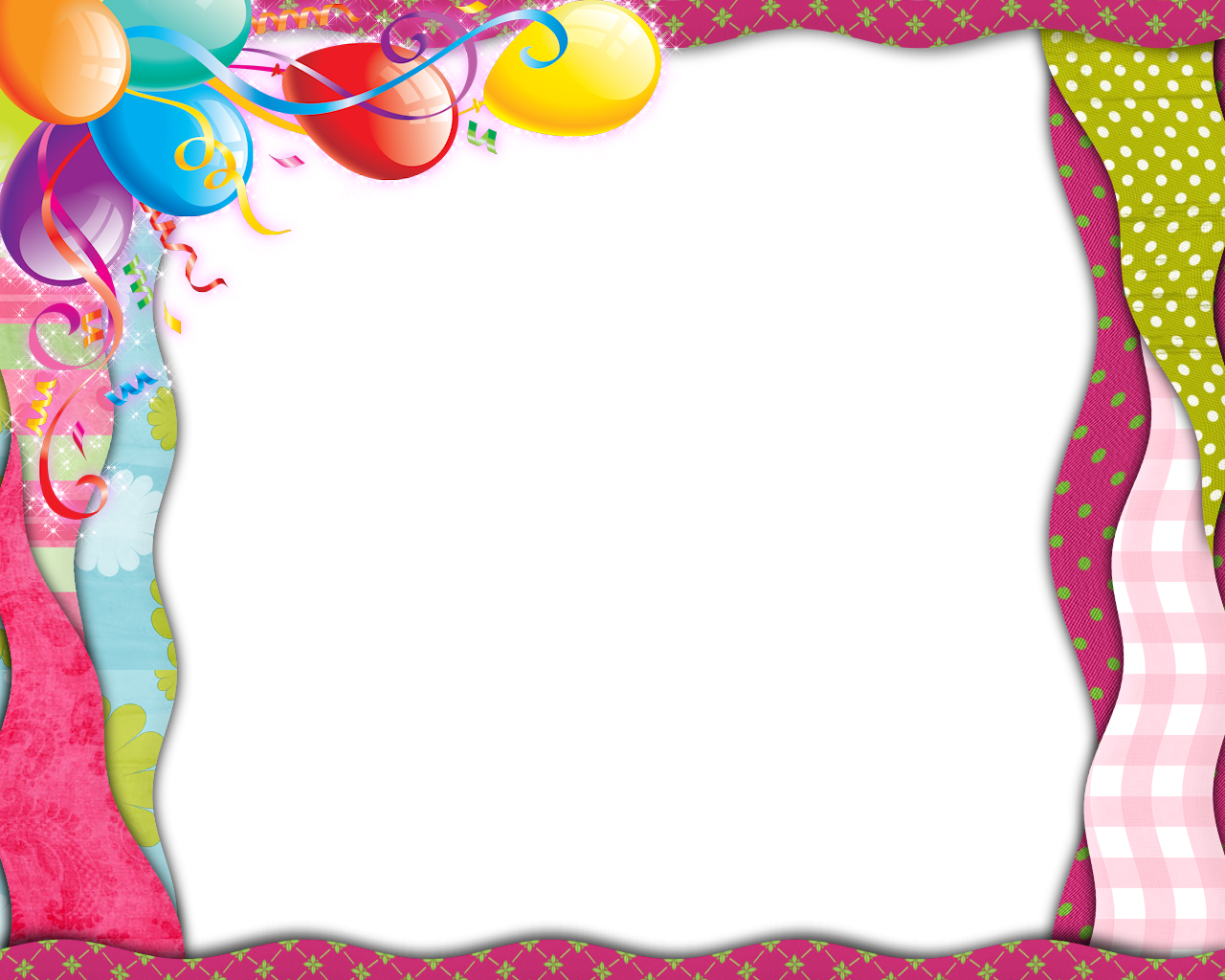 Template Birthday Picture Frame 1st