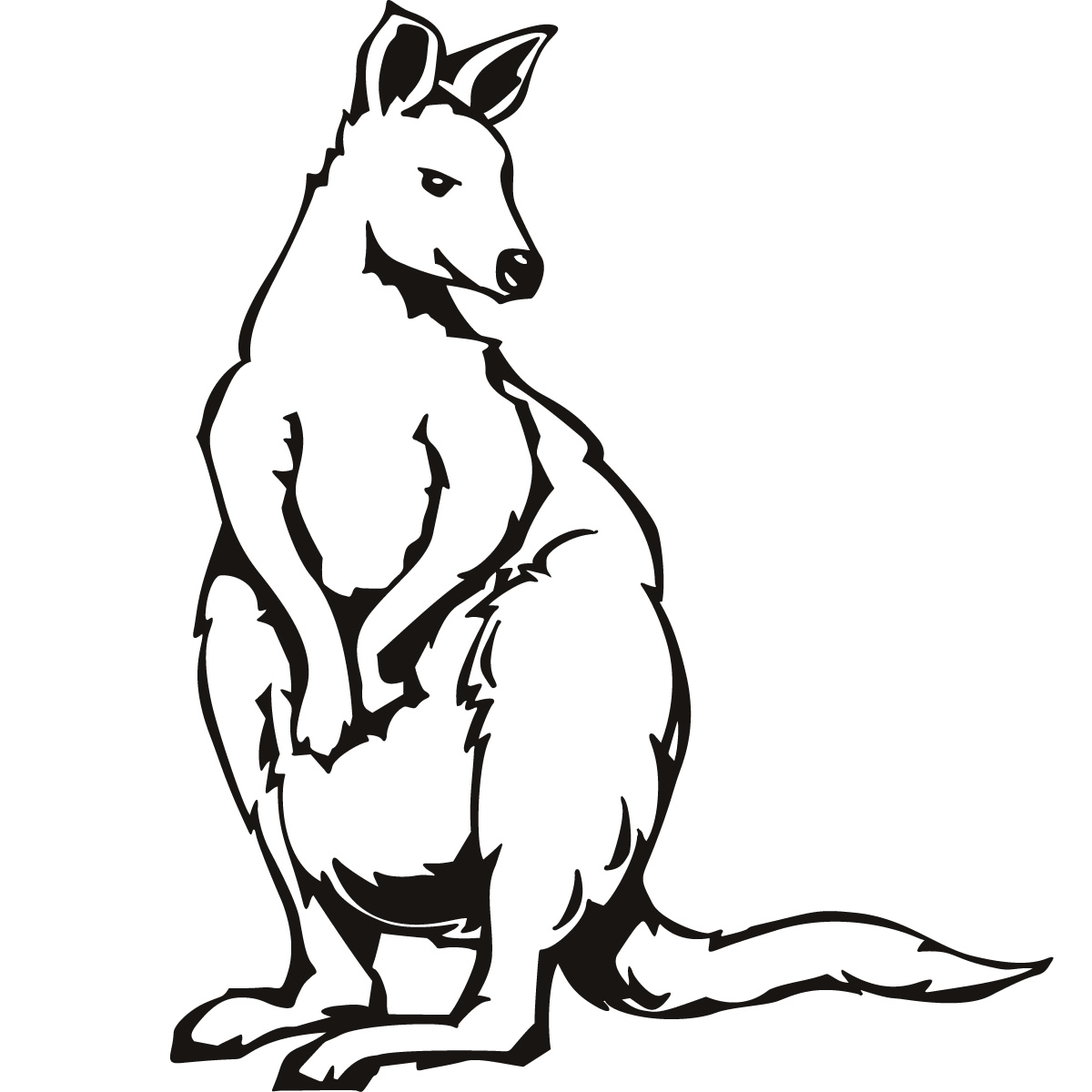 Kangaroo Outline