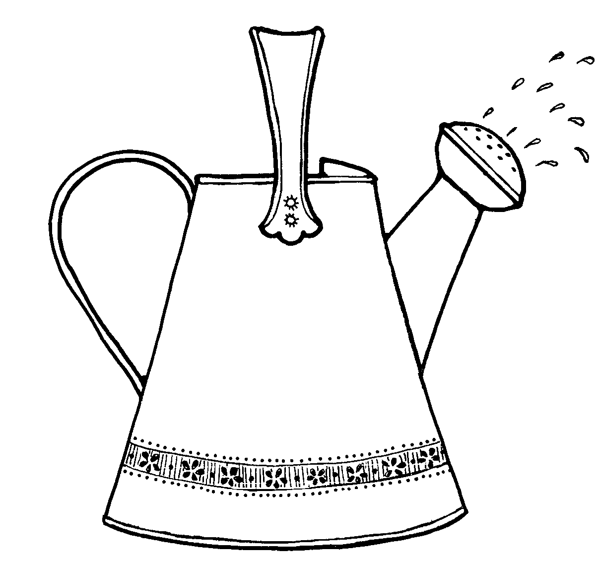 Trends For Gt Watering Can Clipart Black And White
