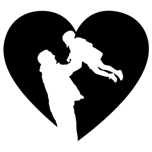 Download Father And Daughter Heart clipart, cliparts of Father And ...