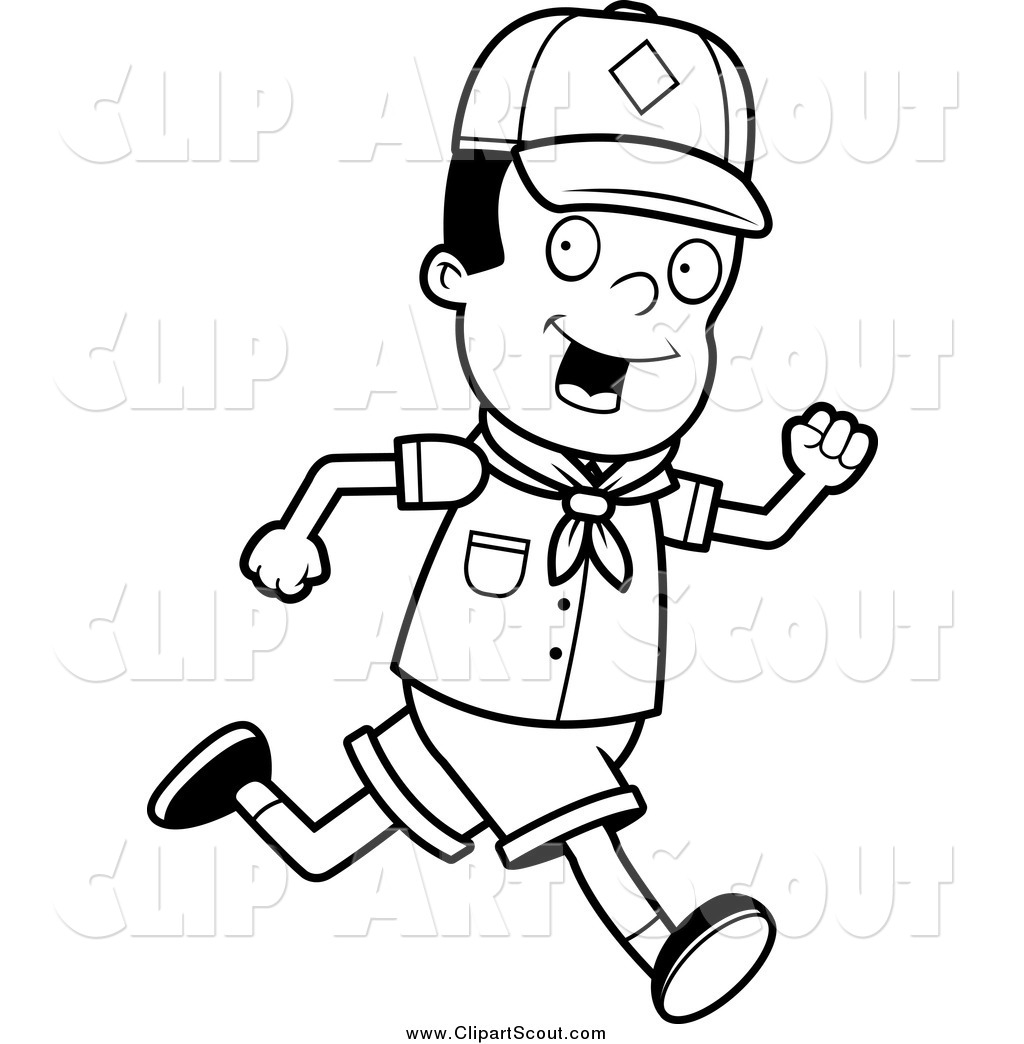 Royalty Free Stock Scout Designs Of Printable Coloring Pages