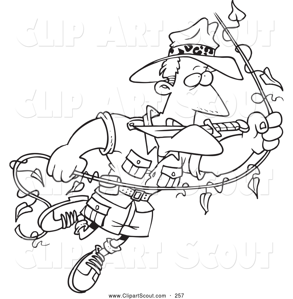 Royalty Free Black And White Stock Scout Designs