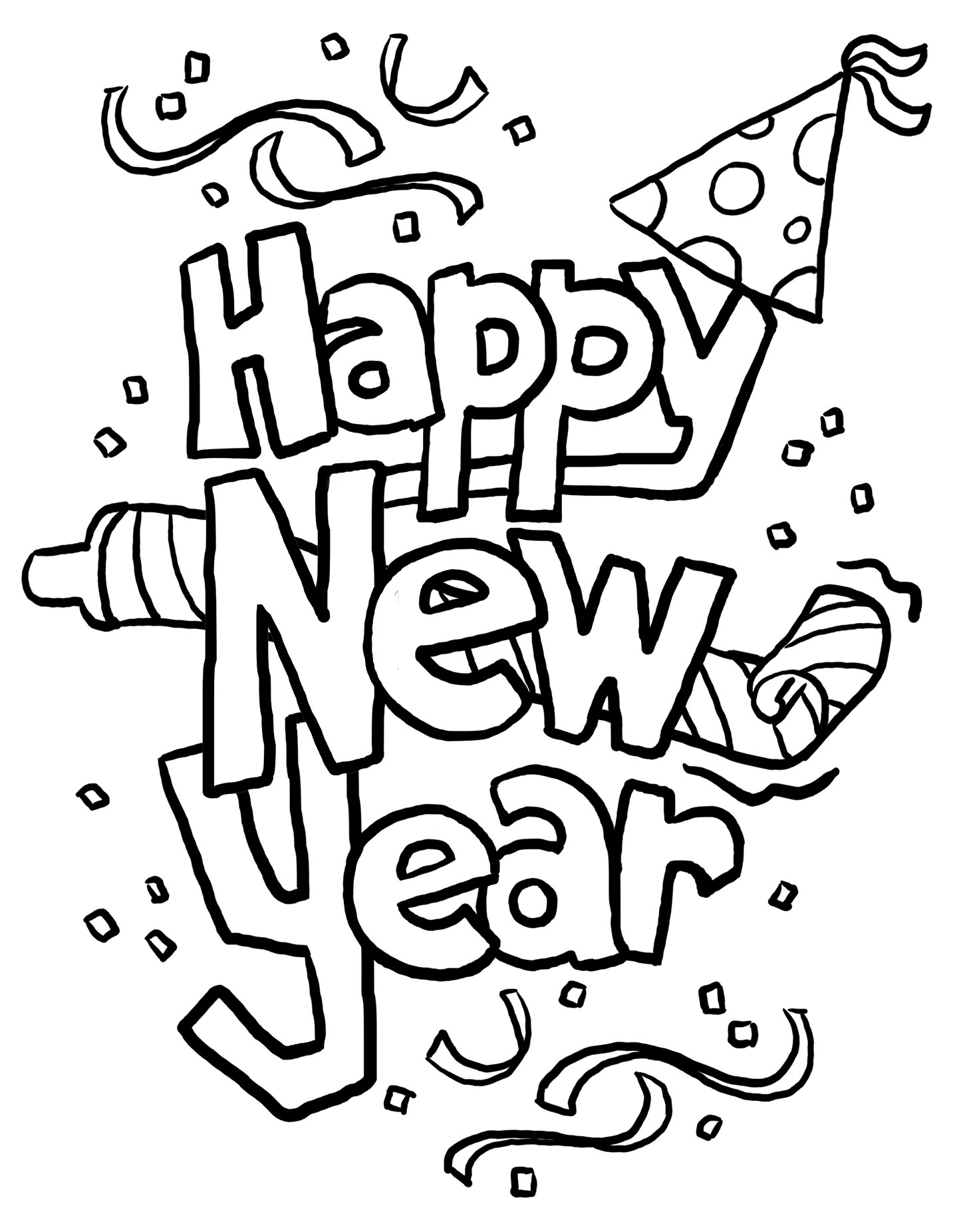 New Years Party Hat Clip Art Happy Holidays Image