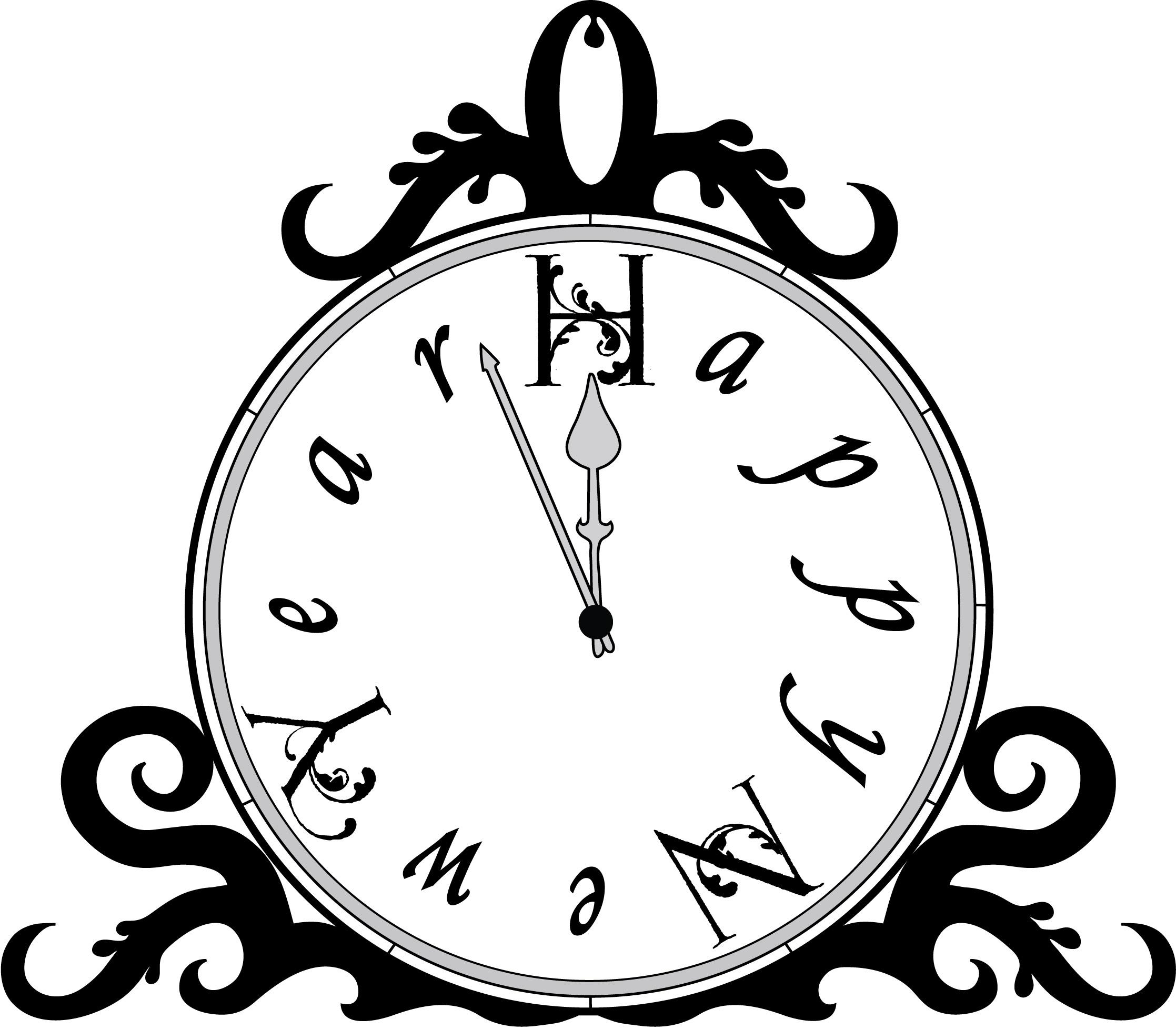 Blankog Clock Clip Art Clipart Image