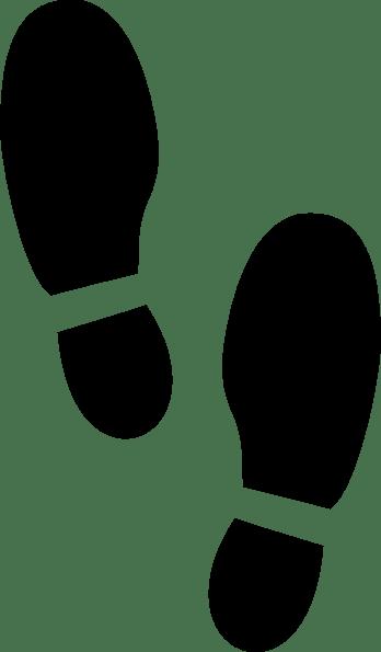 Silhouette Shoe Prints Clipart Image 19951