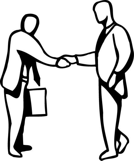 Shaking Hands Black And White Handshake Line Art Free Clip